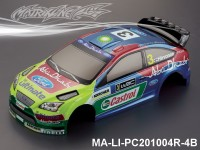 318 FORD FOCUS Finished PC Body RTR MA-LI-PC201004R-4B Painted