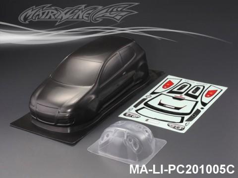 444 VOLKSWAGEN GTI CARBON-PRINTING PC Body SHELL MA-LI-PC201005C Transparent