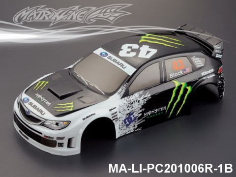 322 SUBARU IMRREZA WRX 10 Finished PC Body RTR MA-LI-PC201006R-1B Painted