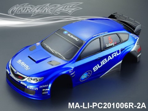 323 SUBARU IMRREZA WRX 10 Finished PC Body RTR MA-LI-PC201006R-2A Painted