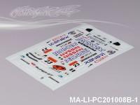140 NISSAN GT-R R35 GT DECAL SHEET - High Flexible Vinyl Label MA-LI-PC201008B-1