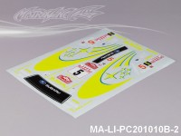 144 SUBARUIMRREZA WRX 9 DECAL SHEET - High Flexible Vinyl Label MA-LI-PC201010B-2