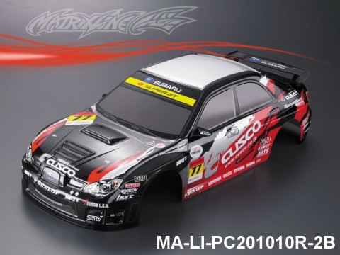 333 SUBARU IMRREZA WRX 9 Finished PC Body RTR MA-LI-PC201010R-2B Painted