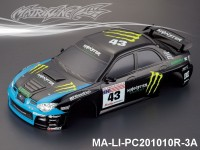 334 SUBARU IMRREZA WRX 9 Finished PC Body RTR MA-LI-PC201010R-3A Painted