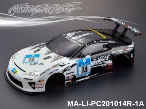 338 LEXUS LFA Finished PC Body RTR MA-LI-PC201014R-1A Painted