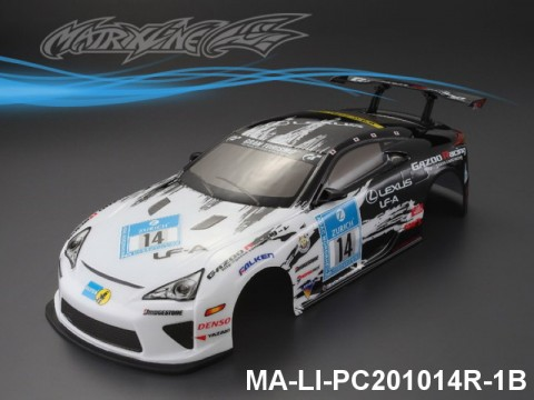 340 LEXUS LFA Finished PC Body RTR MA-LI-PC201014R-1B Painted