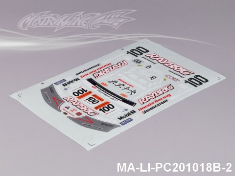 102 HONDA HSV DECAL SHEET - High Flexible Vinyl Label MA-LI-PC201018B-2