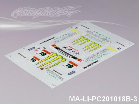 103 HONDA HSV DECAL SHEET - High Flexible Vinyl Label MA-LI-PC201018B-3