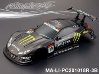 346 HONDA HSV Finished PC Body RTR MA-LI-PC201018R-3B Painted
