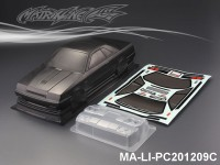 423 NISSAN SKYLINE GTS-R CARBON-PRINTING PC Body SHELL MA-LI-PC201209C Transparent