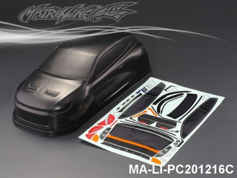 437 VOLKSWAGEN SCIROCCO CARBON-PRINTING PC Body SHELL MA-LI-PC201216C Transparent