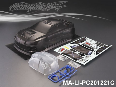 450 SUBARU WRX-9 CARBON-PRINTING PC Body SHELL MA-LI-PC201221C Transparent