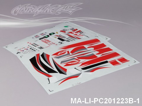 123 LEXUS SC430 DTM DECAL SHEET - High Flexible Vinyl Label (Hot Sale) MA-LI-PC201223B-1