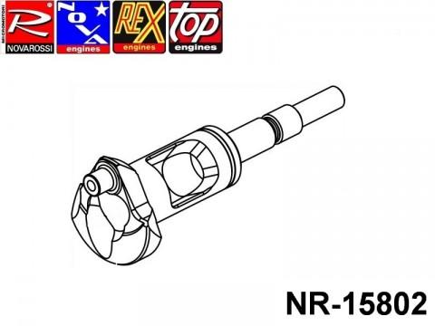 Novarossi NR-15802 Shaft 4,66cc 014mm Turbo SG for pull starter-rotostart Grinded Thread