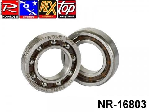 Novarossi NR-16803 Rear ball bushing 3,5cc 014x25,8x5,7x4,7mm - 9 steel balls Patented