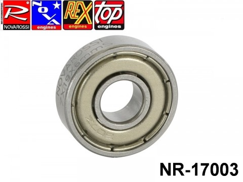 Novarossi NR-17003 Front ball bushing steel screen 2,1-2,5-3,5cc 07x19x6mm - 7 steel balls