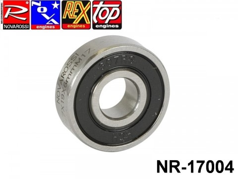 Novarossi NR-17004 Front ball bushing rubber screen 2,1-3,5-4,66cc 07x19x6mm - 7 steel balls
