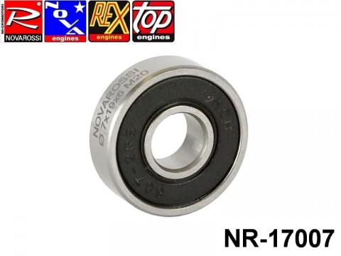 Novarossi NR-17007 Front ball bushing 4,66cc 019x7x6mm double rubber screen - 7 steel balls