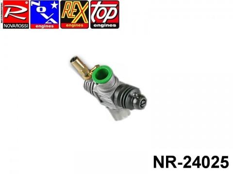 Novarossi NR-24025 Aluminium 3,5cc Slide Carburettor 09mm with Fins 2 Adiustments Steel Bush