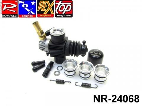 Novarossi NR-24068 Plastic Carburettor 3,5cc 09mm 2Adiustments Reverse with Reducer 06mm