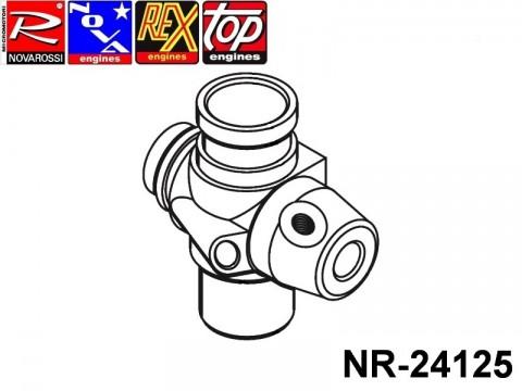 Novarossi NR-24125 Aluminium carburettor body 3,5cc 09mm with fins 2adiustments slide modified for steel bushing reducer
