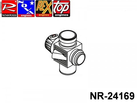 Novarossi NR-24169 Plastic Body Carburettor 3,5cc 09mm 1adiustment Reverse for Reducer