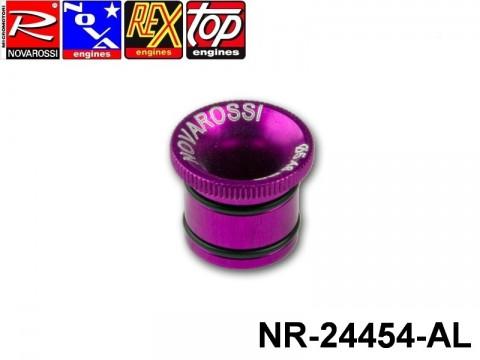 Novarossi NR-24454-AL Viola Anodized 2,1cc Aluminium Hole Carburettor Reducer 05,4mm