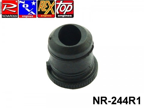 Novarossi NR-244R1 Black Oval Hole Reducer Nr. 1 0-8mm (Big) Printed Plastic with O'ring