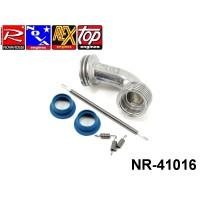 Novarossi NR-41016 Manifold Set Polished Conical Medium 2 Rings 6 Fins + 21000 + 60001 + 60006 ON ROAD