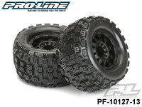 Protoform PF-10127-13 Badlands MX38 3.8 All Terrain Tires Mounted on F-11 Black 1-2 Offset 17mm Wheels 2 for 17mm MT Front or Rear