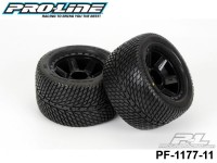 Protoform PF-1177-11 Road Raqe 3.8 street Tires Mounted on Desperado Black 1-2 Offset 17mm Wheels 2 for 17mm MT Front or Rear
