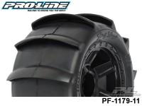 Protoform PF-1179-11 Slinq Shot 3.8 Sand Tires Mounted on Desperado Black 1-2 Offset 17mm Wheels 2 for 17mm MT Front or Rear