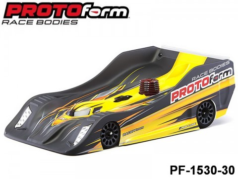 Protoform PF-1530-30 PFR18 Liqht Weiqht Clear Body for 1:8 On-Road