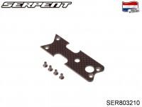 Serpent-SER803210 Filler plate LCG Chassis Carbon